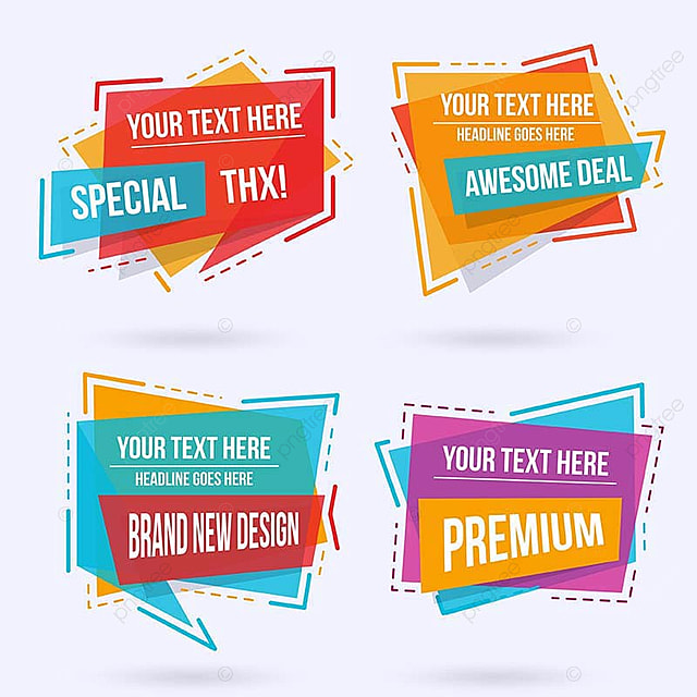 abstract modern label design set label labels png and vector for
