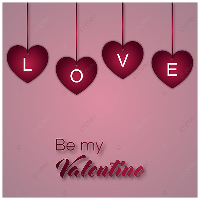 Valentine Background Design, Background, Love, Day PNG and Vector ...