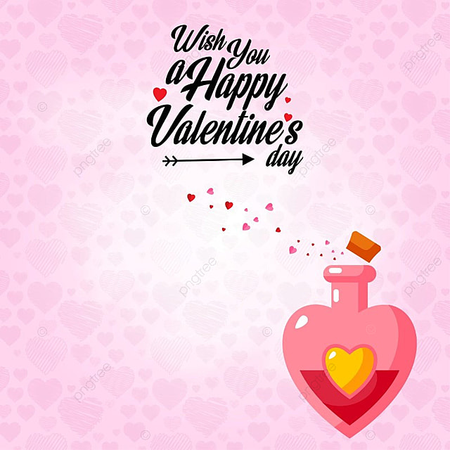 Happy Valentine S Day With Pink Pattern Background Valentine S Day