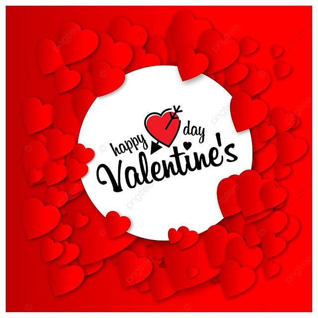 Happy Valentine S Day With Red Pattern Background Pattern Vector