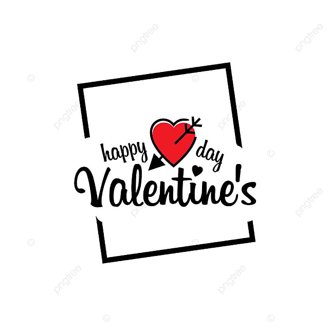 Happy Valentine S Day Frame With White Background Frame Vector