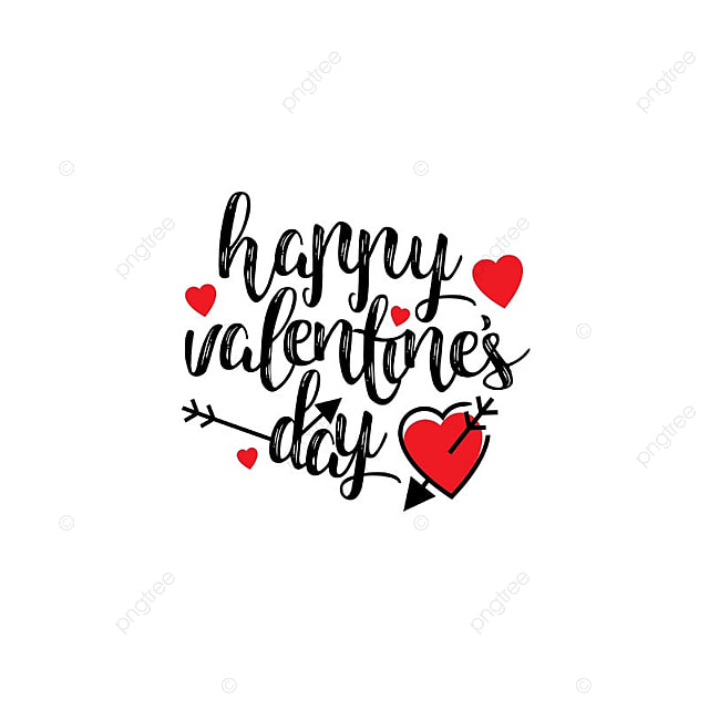 Happy Valentine S Day Card With Simple Background Vector Card