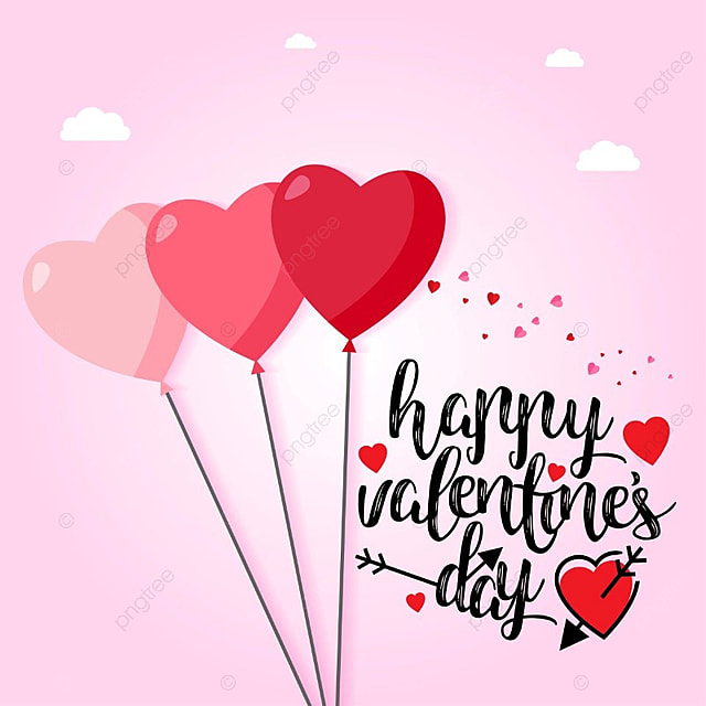 Happy Valentine S Day With Pink Hearts And Background Text Type