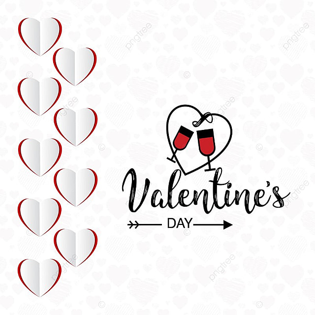 Valentine S Day Card With Red And White Background Day Vector