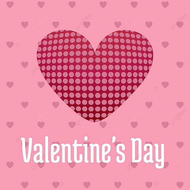 Valentine\'s day card with pink background, Illustration, Vector ...