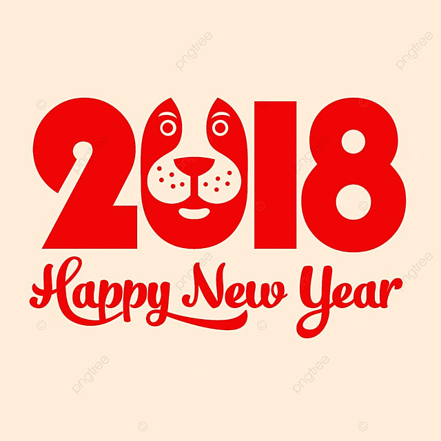 happy chinese new year 2018 happy new year chinese new year 2018 free png and psd - Happy Chinese New Year In Chinese