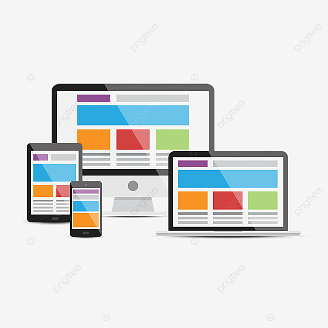 Devices, Responsive Web Design, Adjustable, Black