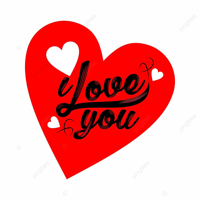i love you, Love, Heart PNG and Vector
