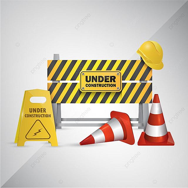Vector Illustration Historique Du Site Web En Construction Site Web