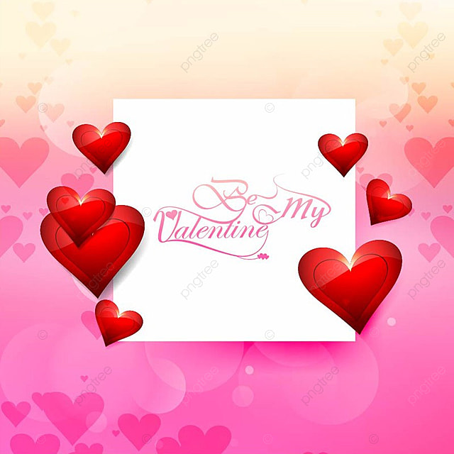 Valentine S Day With Card Beautiful Background Valentine Day