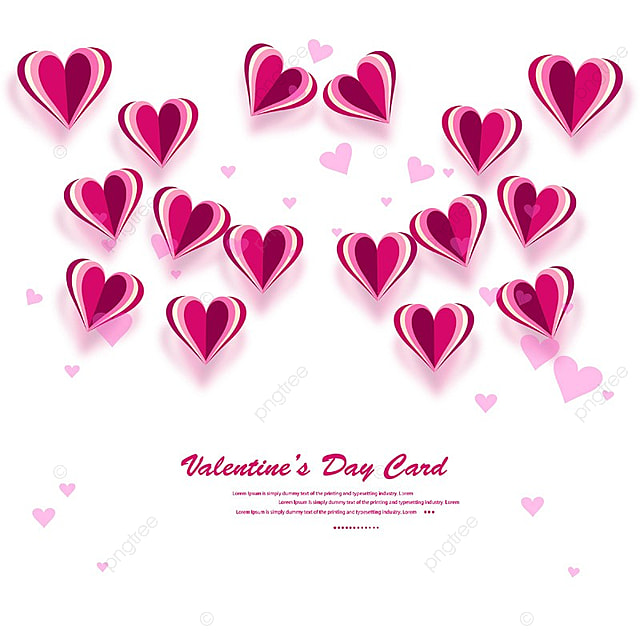 Valentines Heart Decorative Heart Background With Lot Of Valentines
