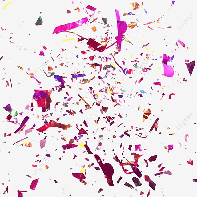 Abstract Colorful Confetti Background Vector Illustration