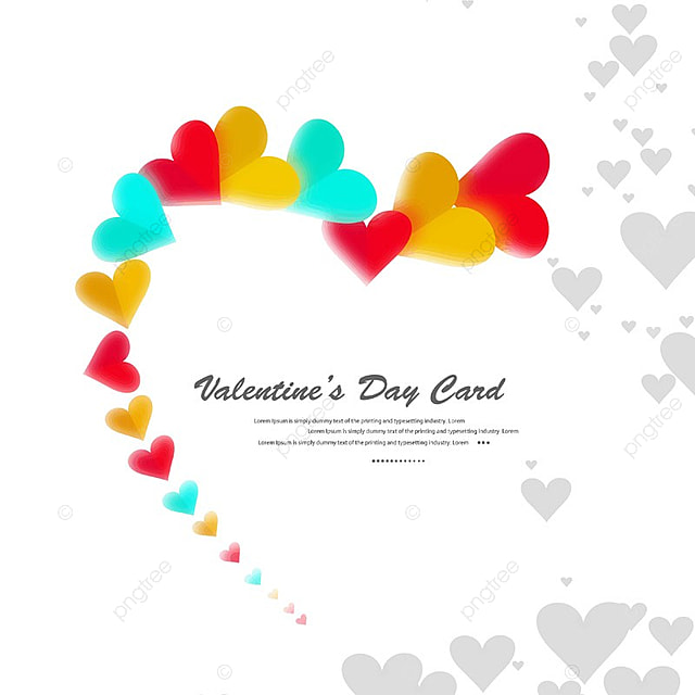 Happy Valentine S Day Hearts On A White Background Valentine Day