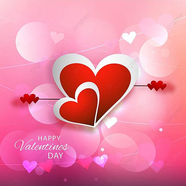 Happy Valentine\'s day Greeting Card background vector, Valentine ...