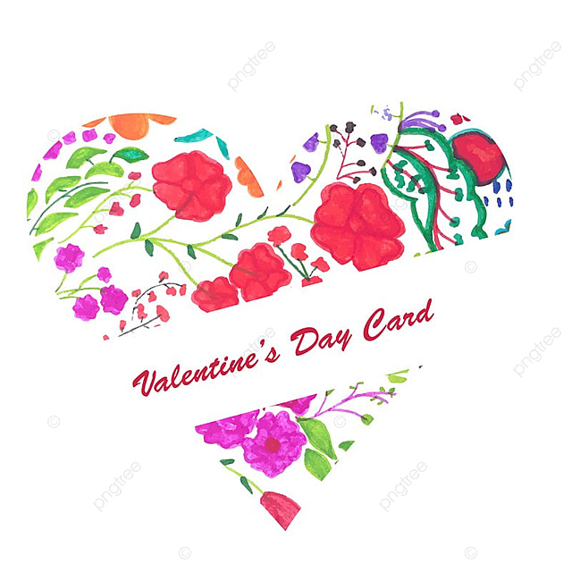 Modern Valentine S Day Colorful Hearts Background Valentine Day