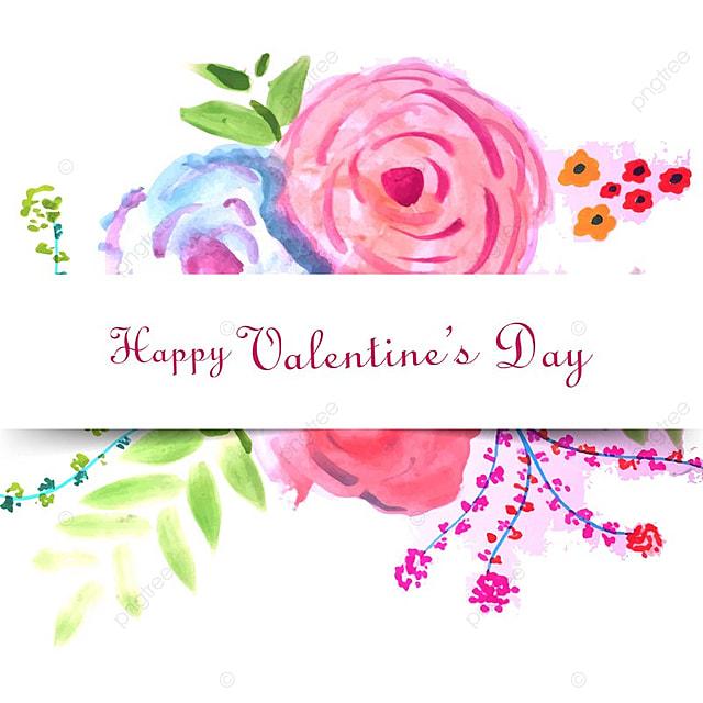 Happy Valentine S Day Colorful Floral Love Card Design Valentine