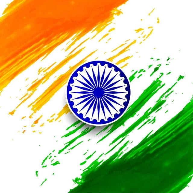 Abstract Indian Flag Watercolor Background Flag Of India