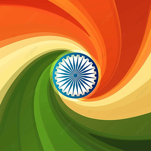 Stylish Indian Flag Republic Day Creative Wave Tricolor