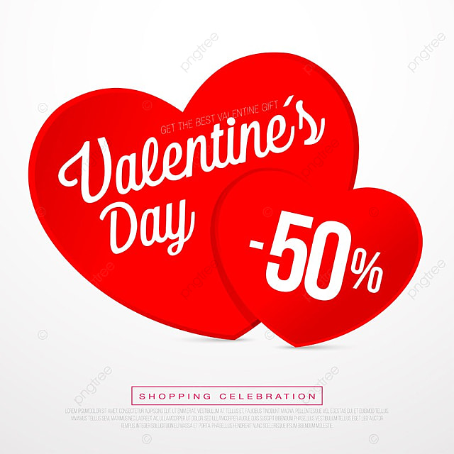 Valentine Day Sales, Special Offers And Discounts, Day, Sale, Valentines  Free PNG And Vector
