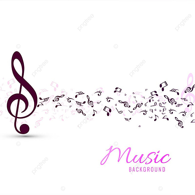 Modern Colorful Music Notes Background Music Vector Abstract
