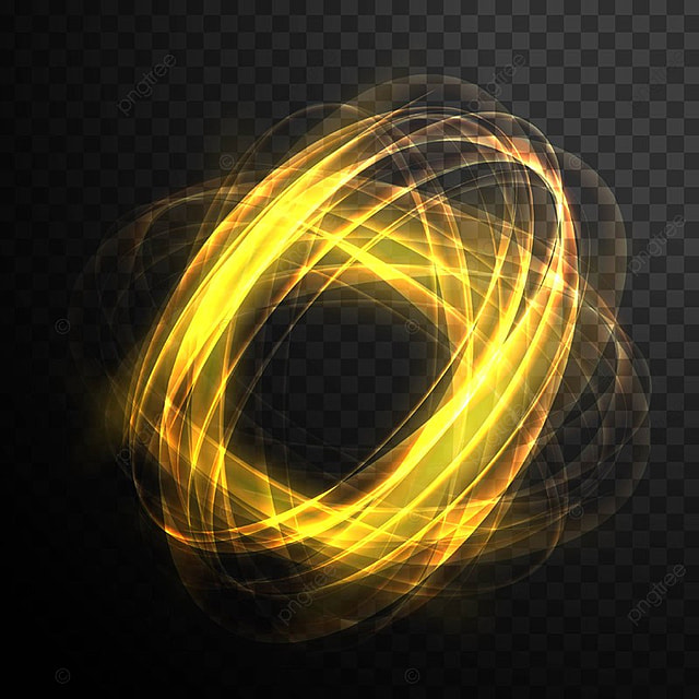 Transparent Golden Light Effect Circle Abstract