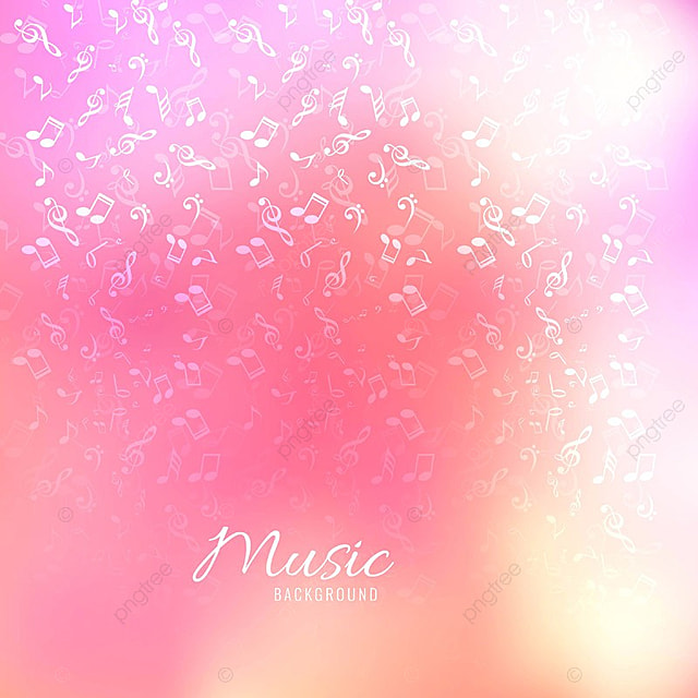 Abstract Music Notes Design For Music Colorful Background Abstract