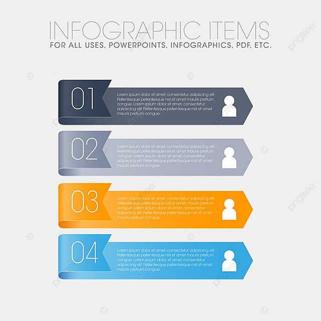 Info graphic items for all purpose, 3d, Abstract, Arrow PNG and Vector