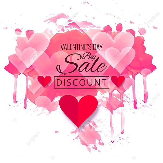 Modern valentine's day sale design illustration, Valentine, Day, Background PNG and Vector