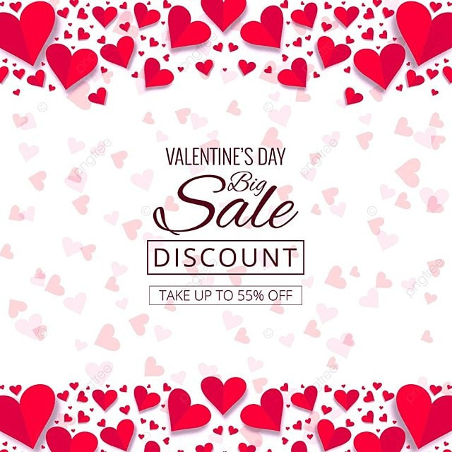 Modern Valentine S Day Sale Design Illustration Valentine Day