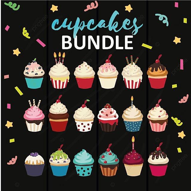 Cupcake Bundle, Cupcake, Food, Pastry PNG and Vector