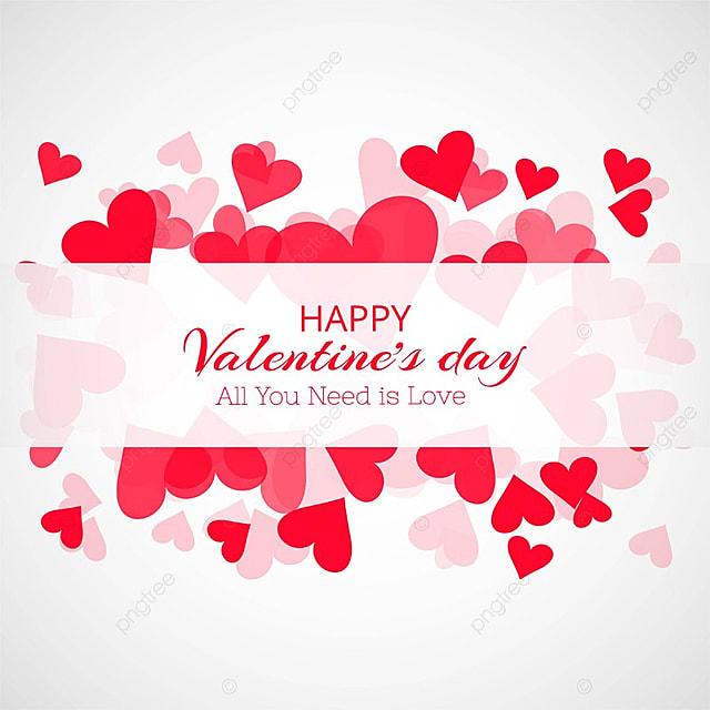Happy Valentine S Day Love Card Heart Design Illustration Valentine