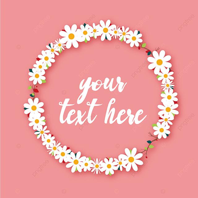 Corona de flores con fondo rosa, Floral, Flor, Guirnalda PNG y Vector