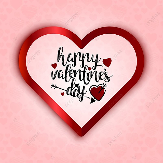 Happy Valentine\'s day card with heart and pink background, Day ...