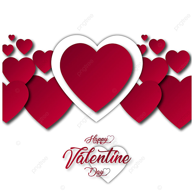 Happy Valentine S Card With Hearts Valentines Day Background Png