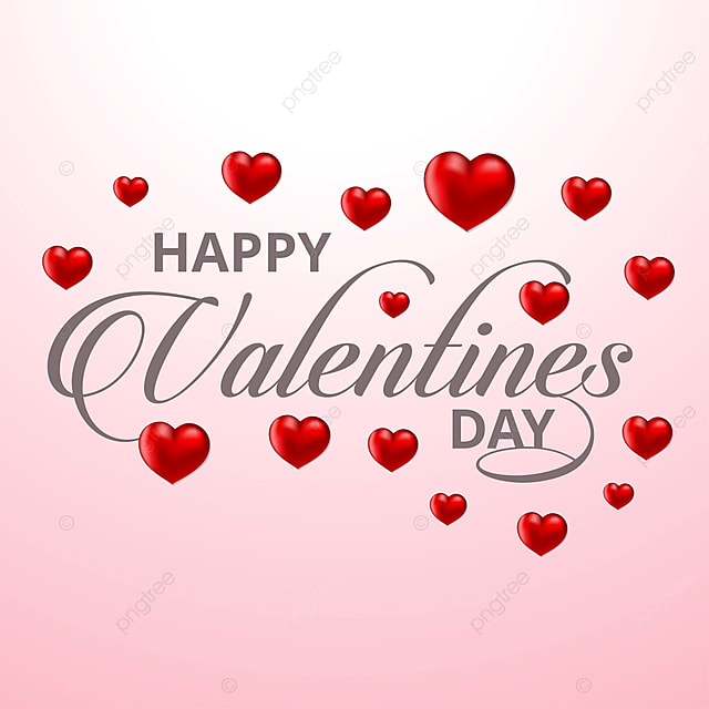Happy Valentine\'s card with pink background, Valentines, Day ...