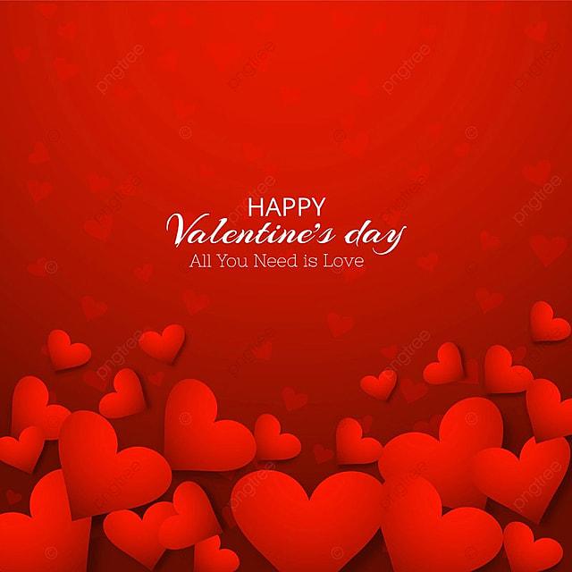 Beautiful Heart Valentines Day Card Design Valentine Day