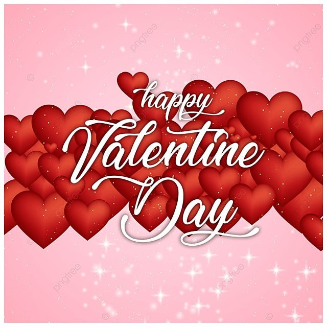 Valentine\'s card with hearts on pink background, Day, Valentine ...