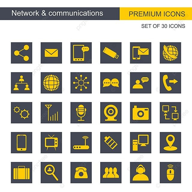 Network And Communication Set Of Icons Icon Icons Vector Png And