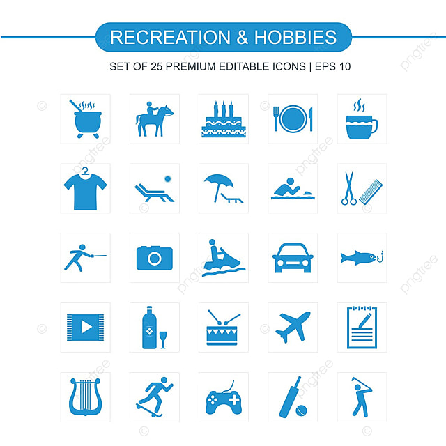 passatempos e hobbies icons set  u00edcone hobby hobbies png e