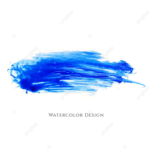Abstract Blue Watercolor Stain Design 3544917 on el design