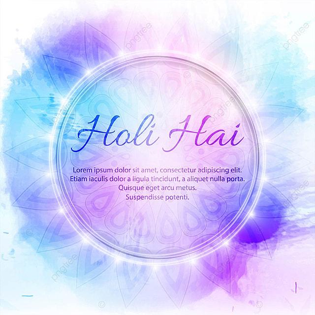 Ilustração do Fundo abstrato colorido Feliz Holi, Abstratos, Fundo, AquarelaPNG e Vector