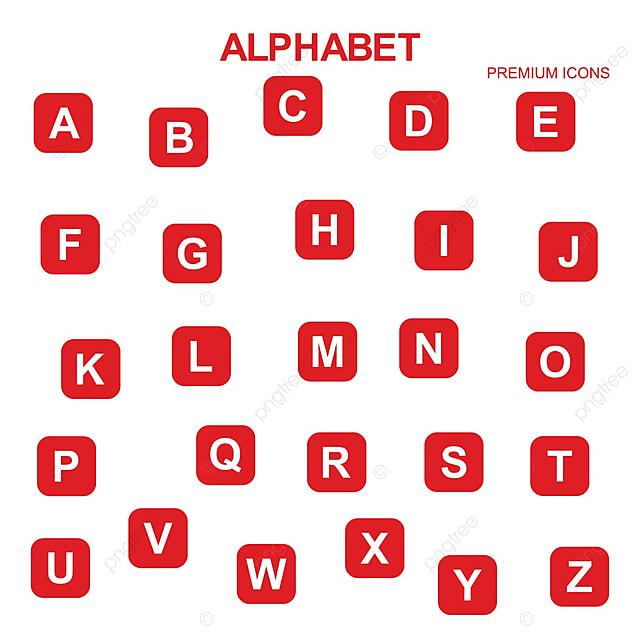 alphabets icons set vector alphabet 3d letter png and