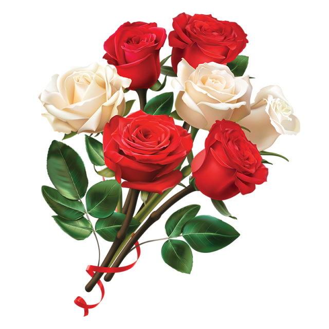 Women Day Red And White Rose Flower Rose Clipart Flower Clipart