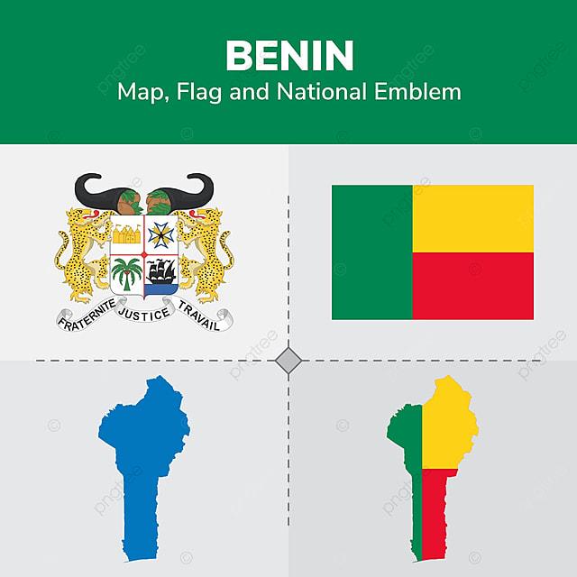 le b u00e9nin carte drapeau et embl u00e8me national des continents