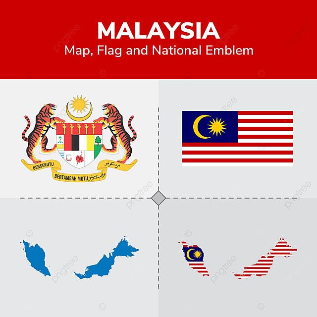 Gambar Bendera Dan Lambang Nasional Malaysia Peta Cinta Senjata Lencana Png Dan Vektor Untuk Muat Turun Percuma