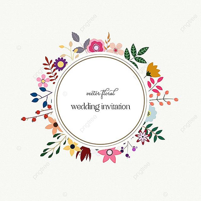 Couronne De Floral Carte Mariage Avec Elegance Gratuit PNG Et Vecteur