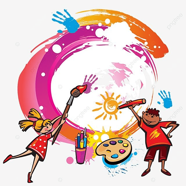 Paint Kids Painting Vector PNG, Kids Painting, Painting Vector, Kids ...