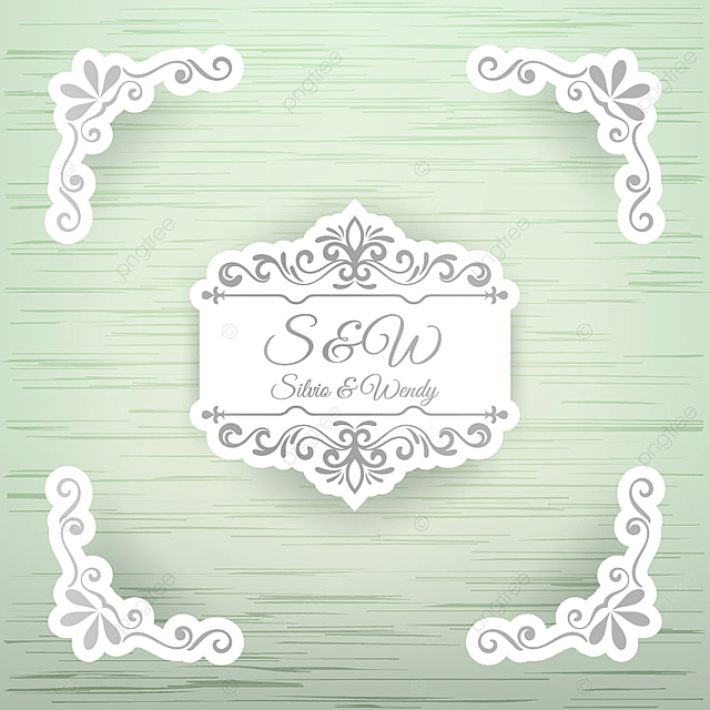 Wedding design with decorative borders wedding frame vector png wedding design with decorative borders wedding frame vector png and vector junglespirit Images