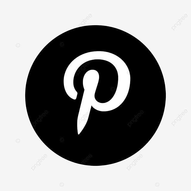 Pinterest Black U0026 White Icon, Pinterest, Social, Media PNG And Vector