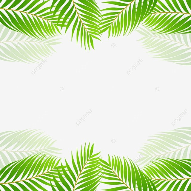 green tropical leaf border vector green tropical leaf
